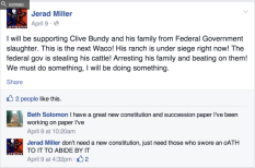 Jerad Miller Fully believes in his spport of The Cliven Bundy Ranch